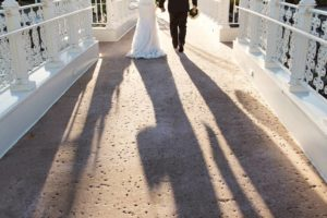 Wedding day shadows