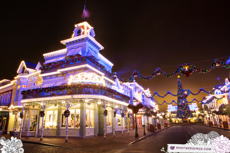 Walt Disney World at Christmas - Uptown Jewelers on Main Street