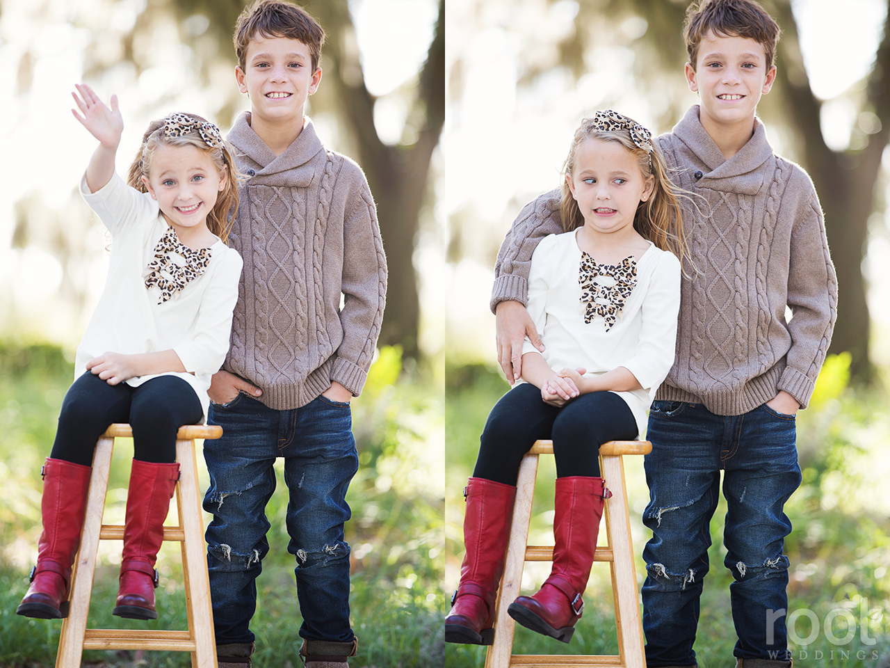 Winter Garden Family Portrait Session 05