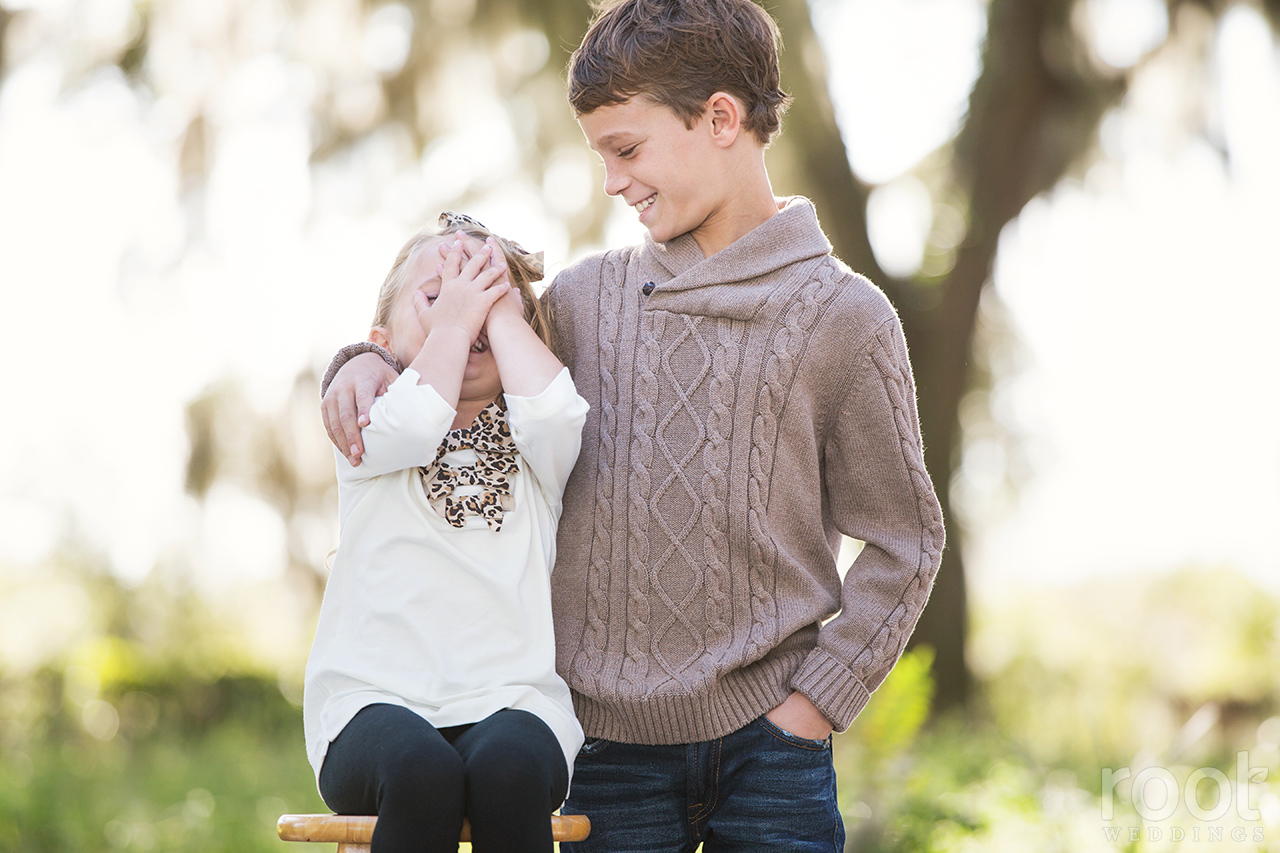 Winter Garden Family Portrait Session 06