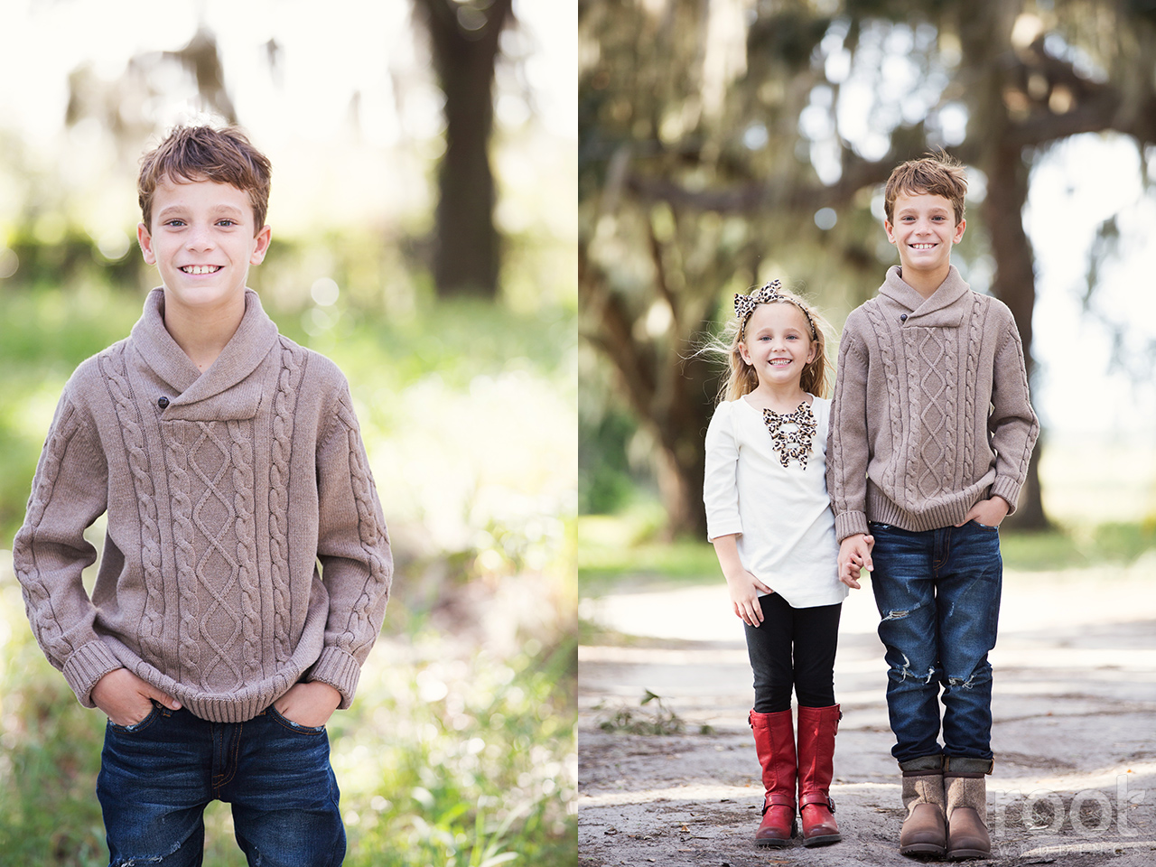 Winter Garden Family Portrait Session 07