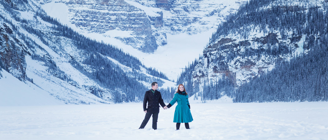 Erin + Brendan : Anniversary Session at The Fairmont Chateau Lake Louise