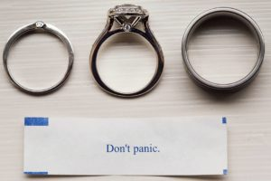 Forever a favorite ring shot! fortunecookie rootweddings dontpanic