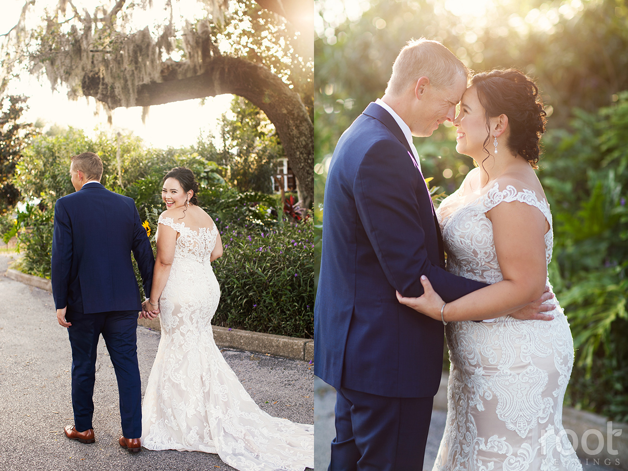 Bride and groom portraits at Dubsdread in Orlando