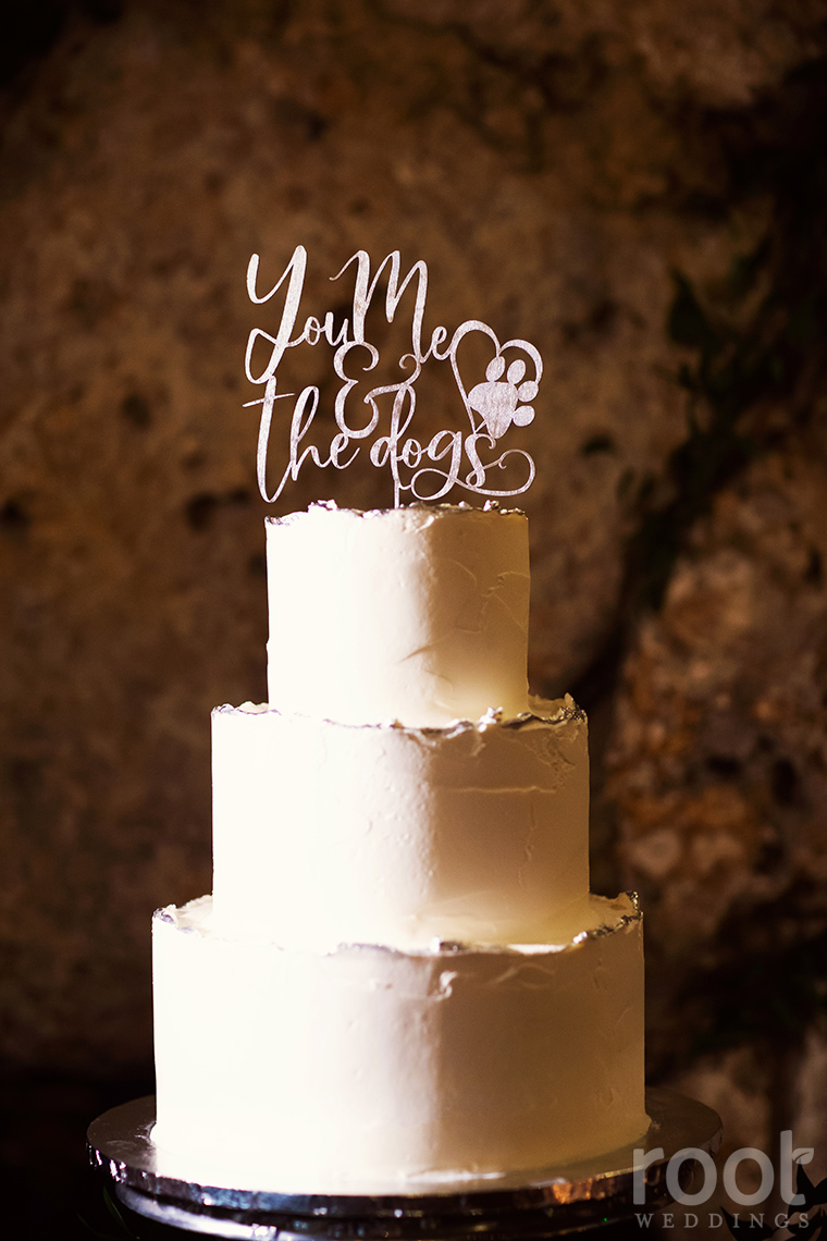 You, Me, and the Dogs wedding cake topper