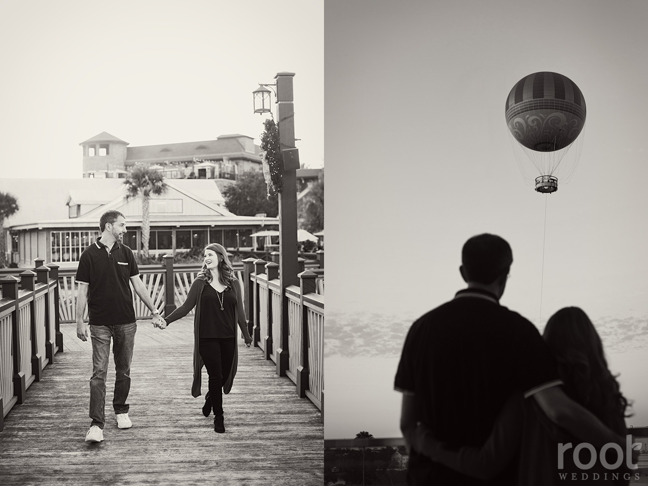 Disney Springs Aerophile hot air balloon engagement session