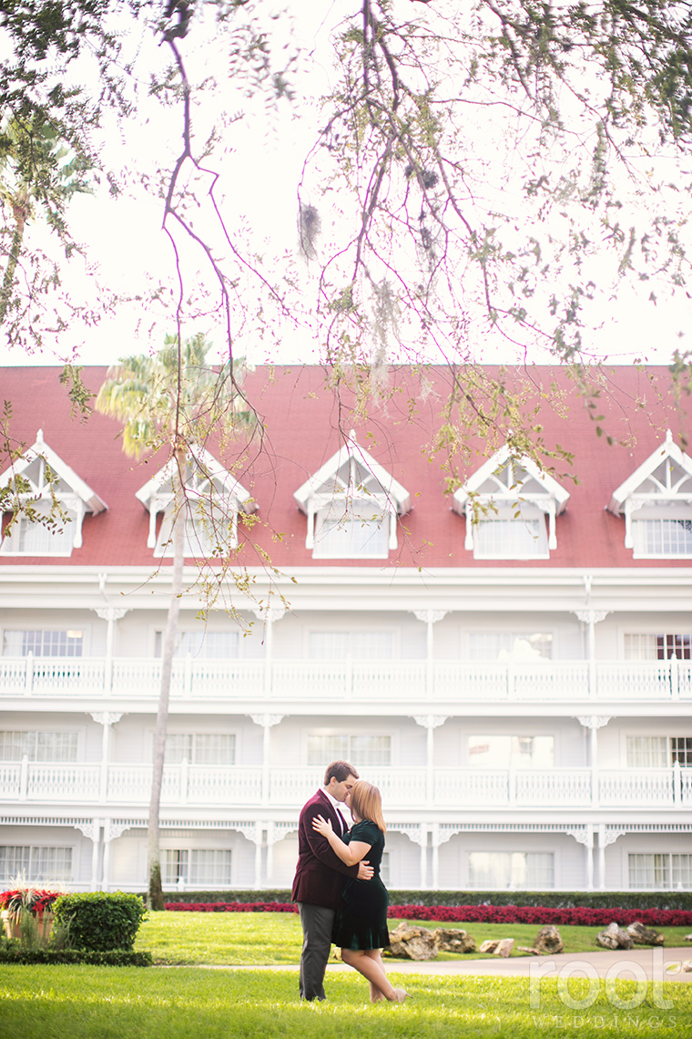 Holiday engagement session at Disney's Grand Floridian Resort