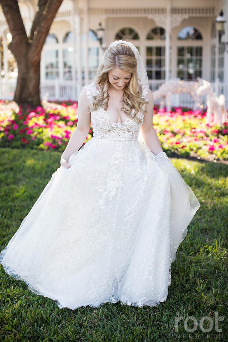Bridal portrait at Disney's Grand Floridian