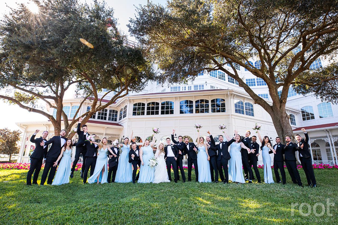 Huge bridal party at Disney's Grand Floridian Resort