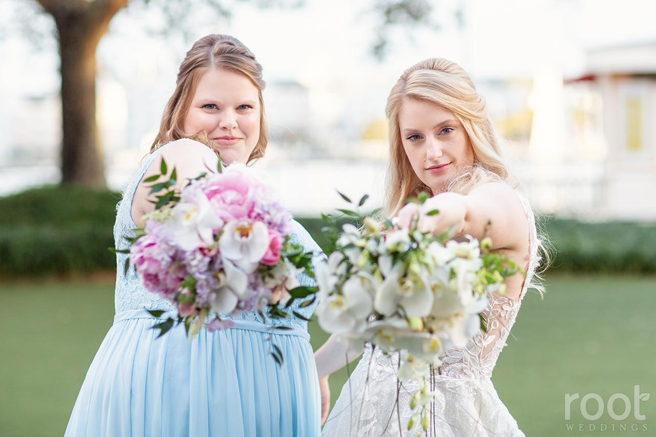 Wedding party photos at Disney's Boardwalk Inn