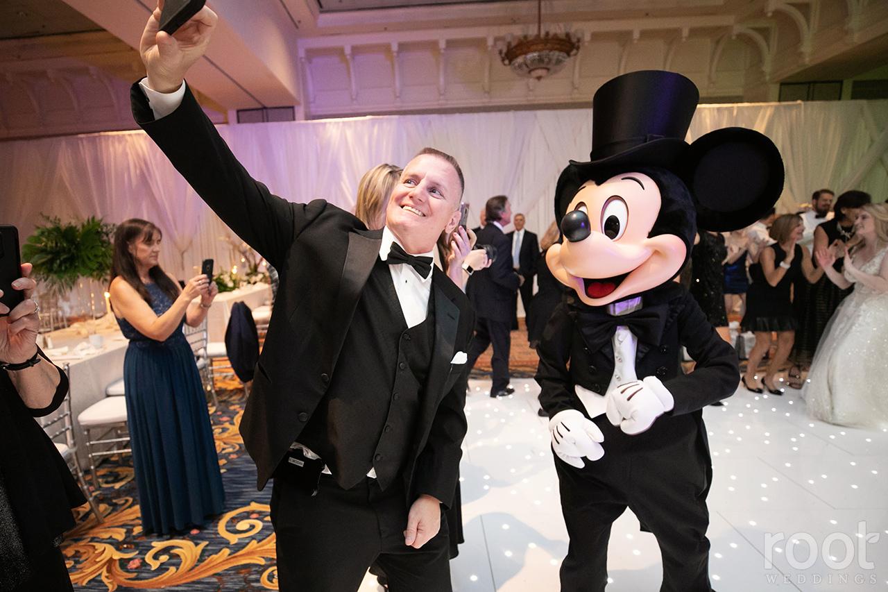 Mickey and Minnie at a Disney Wedding