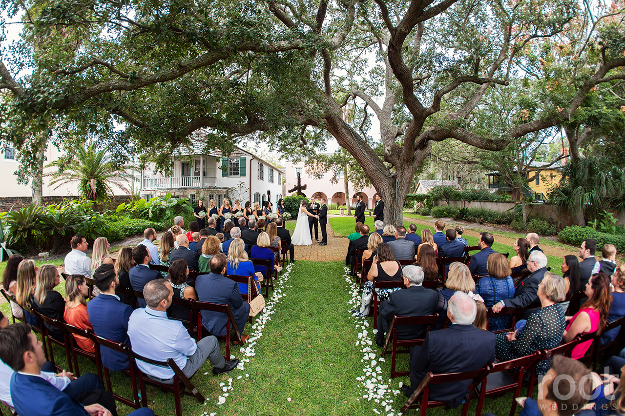 Wedding ceremony at The Oldest House St. Augustine, FL