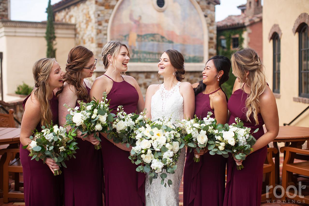 Bridesmaid photos at Bella Collina