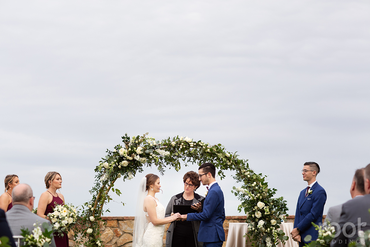 Wedding ceremony at Bella Collina Blush by Brandee Gaar