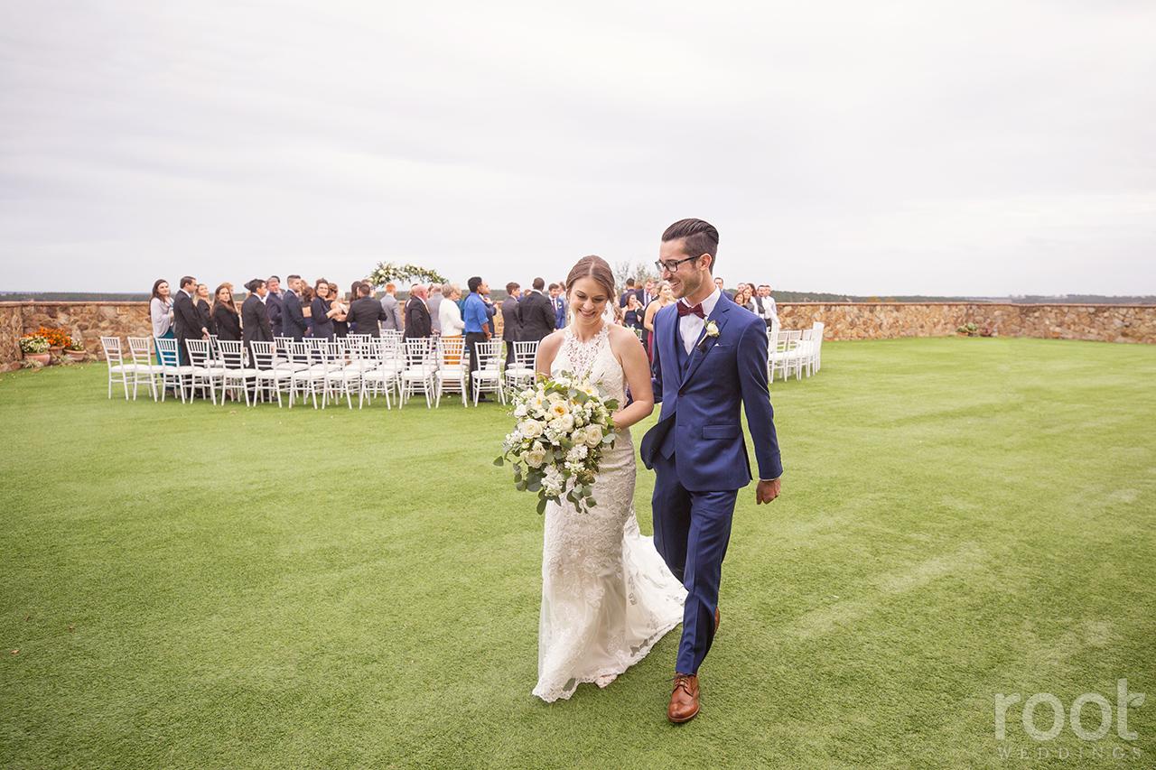Wedding ceremony at Bella Collina Blush by Brandee Gaar