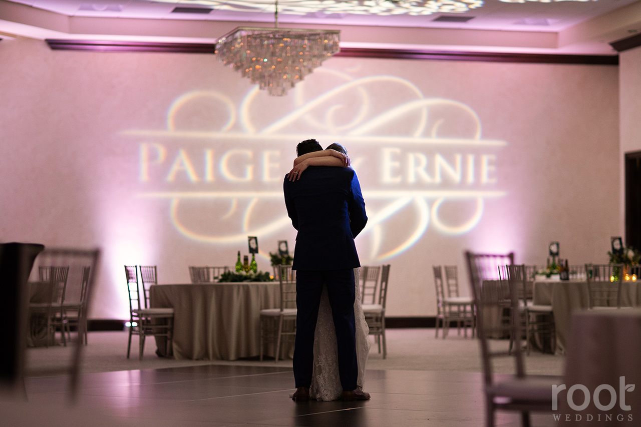 Private last dance at a wedding reception