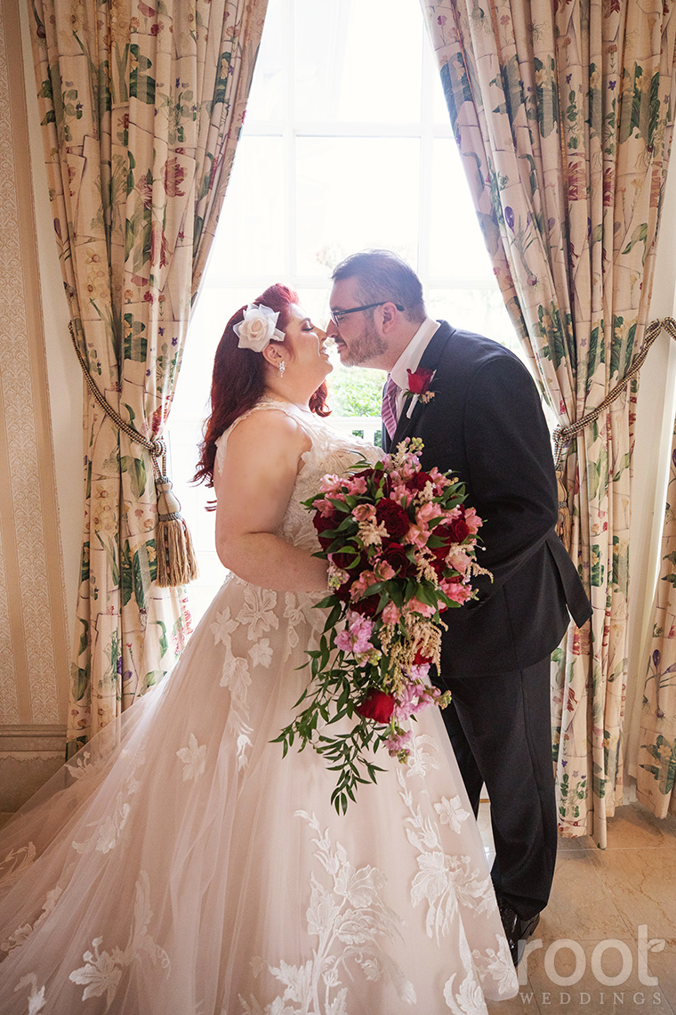 Bride and groom at Disney's Grand Floridian Resort