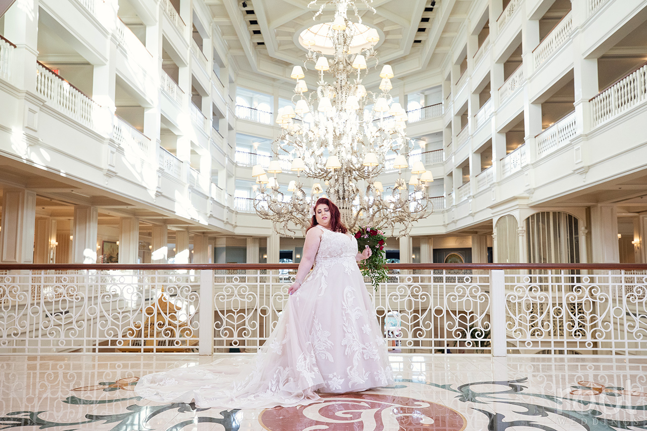 Grand Floridian chandelier bridal portrait