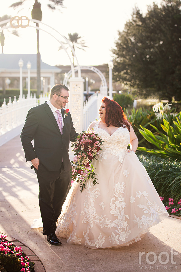 Relaxed bride and groom Wedding Pavilion portrait