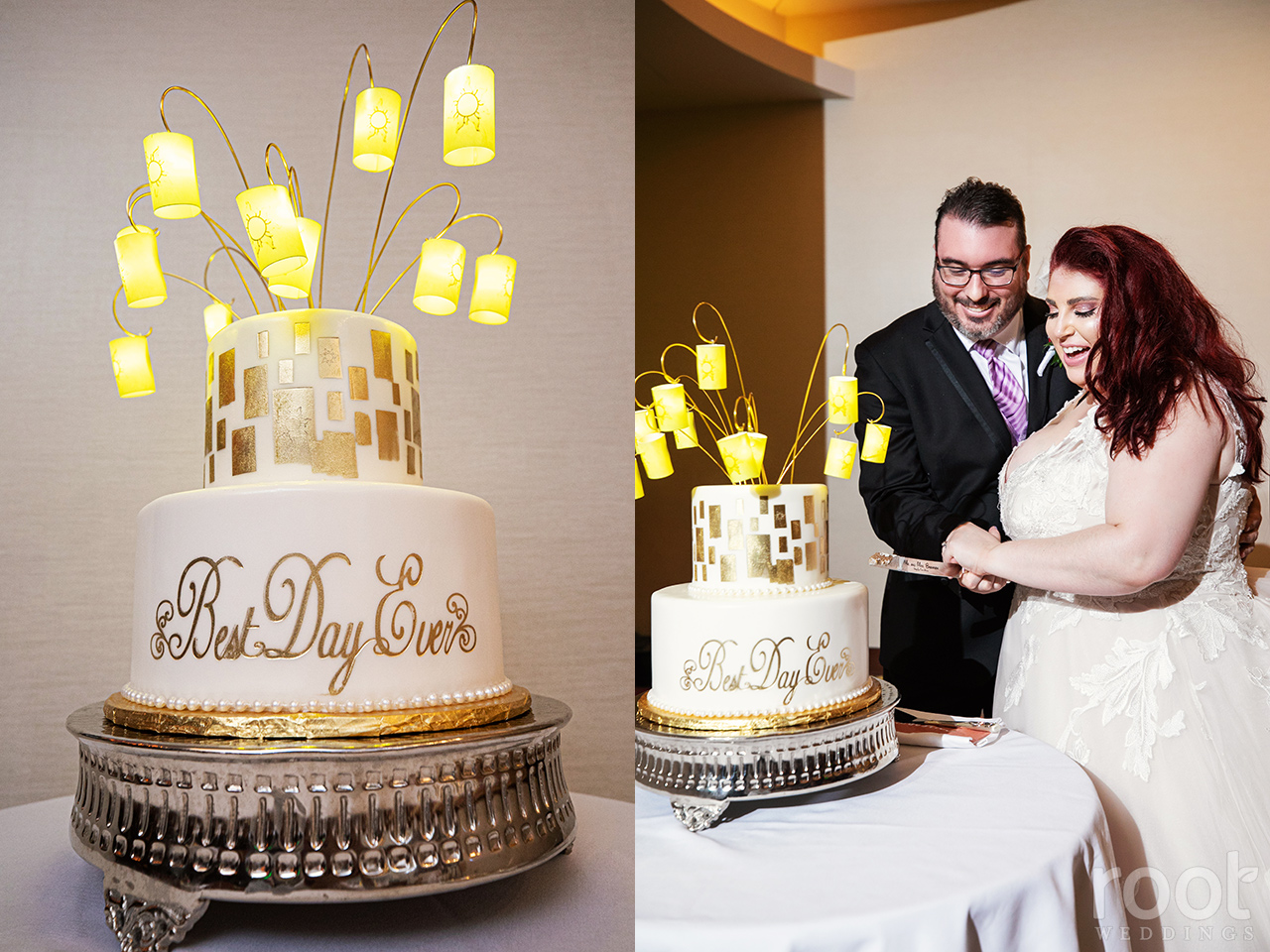 Tangled inspired wedding reception at Disney's California Grill