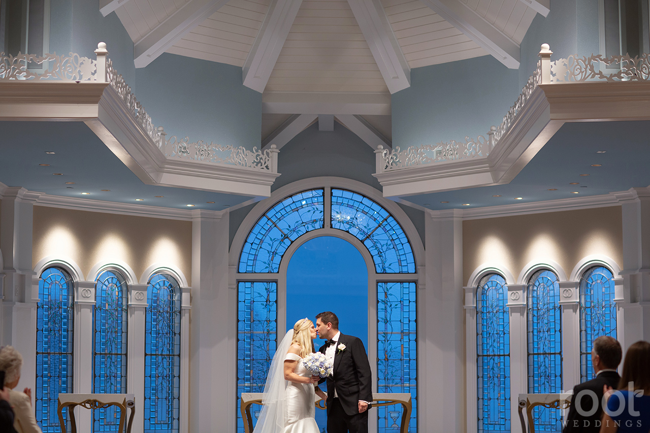 Wedding ceremony at Disney's Wedding Pavilion