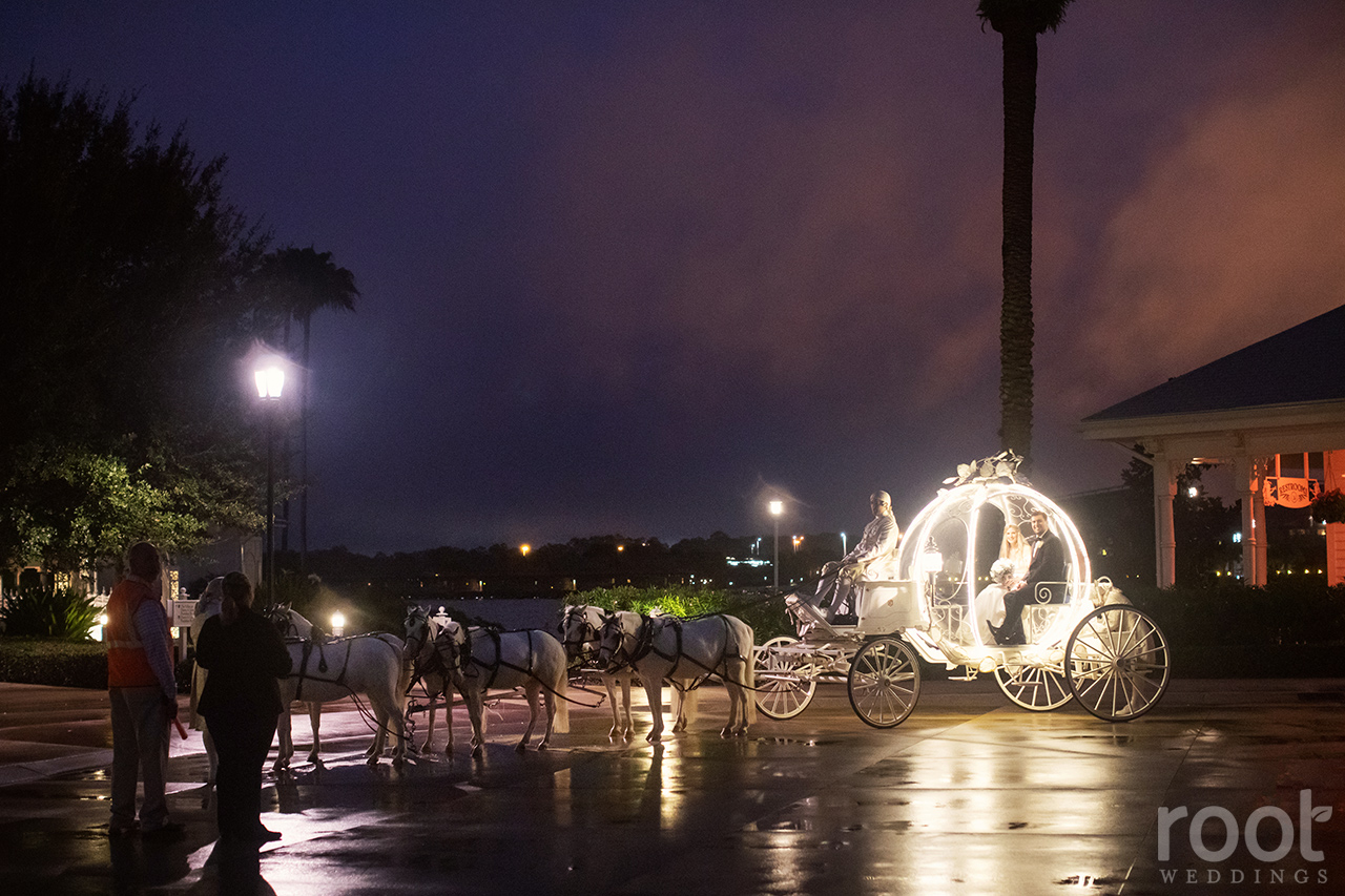 Rainy night ride in Cinderella's Coach