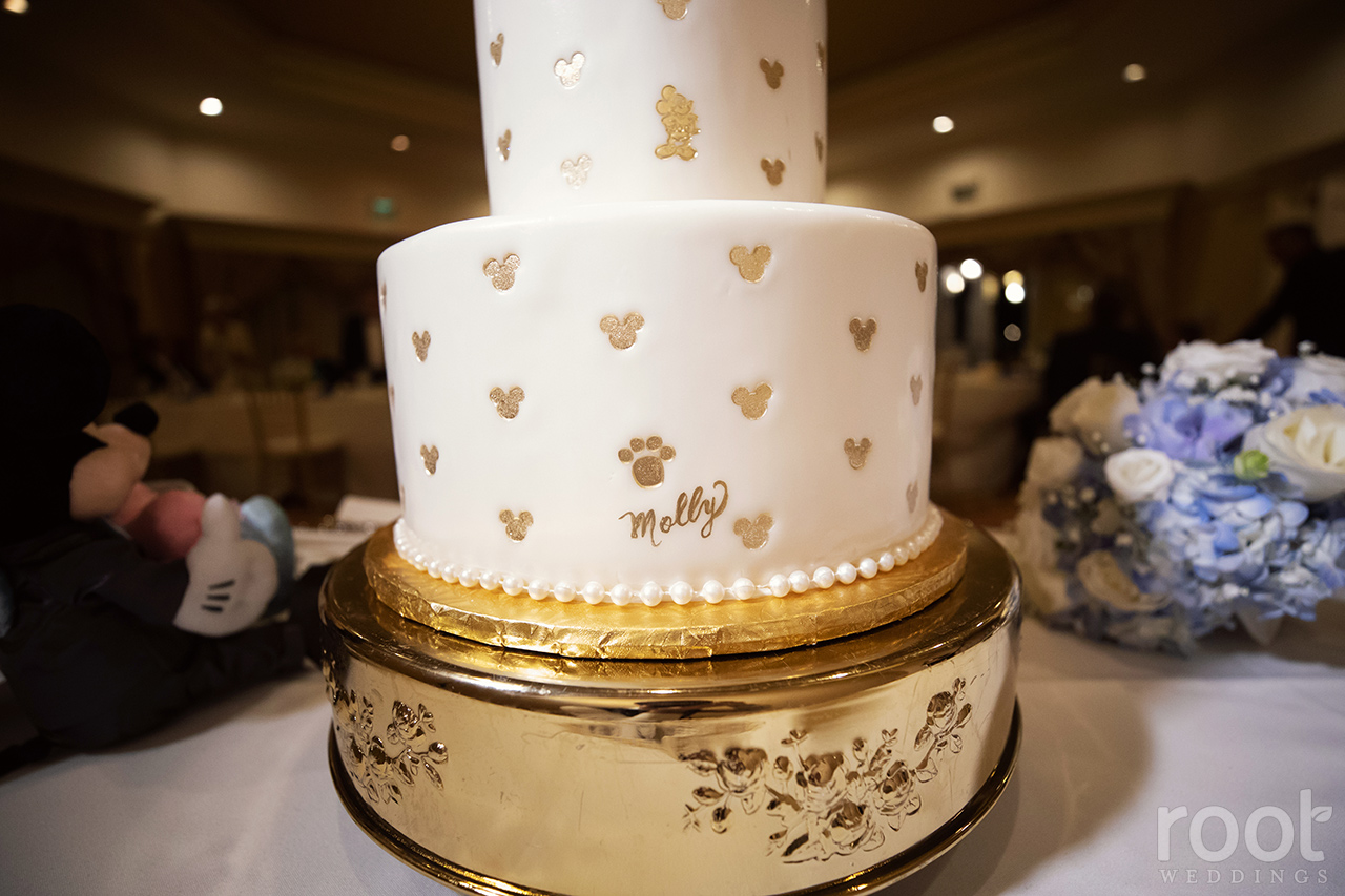 Hidden wedding cake paw prints