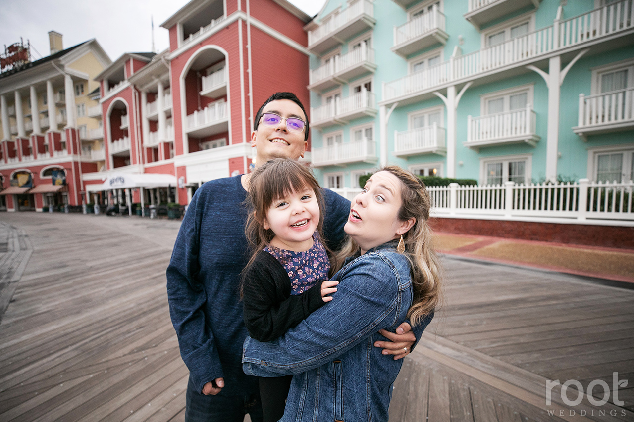 Iconic Disney Boardwalk family session