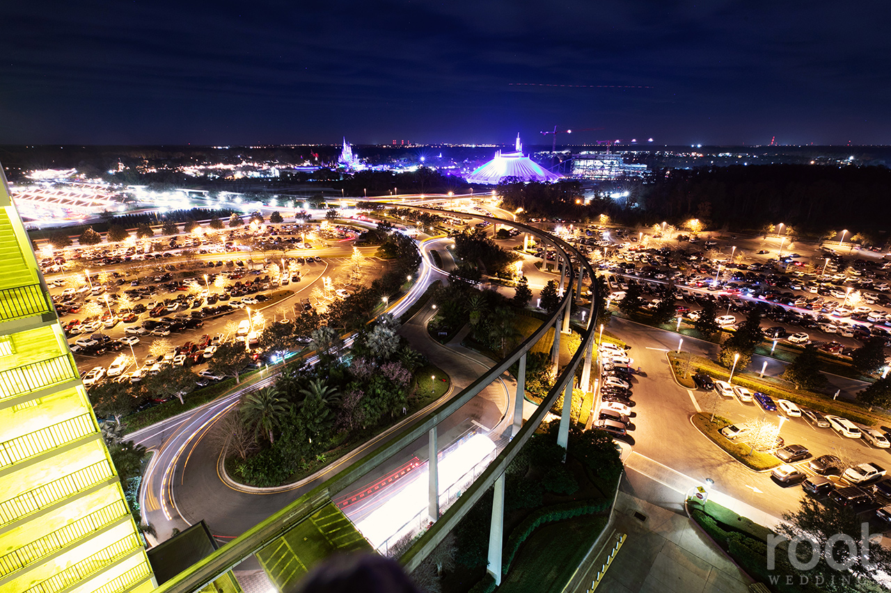 View from Disney's Napa Room at the Contemporary Resort
