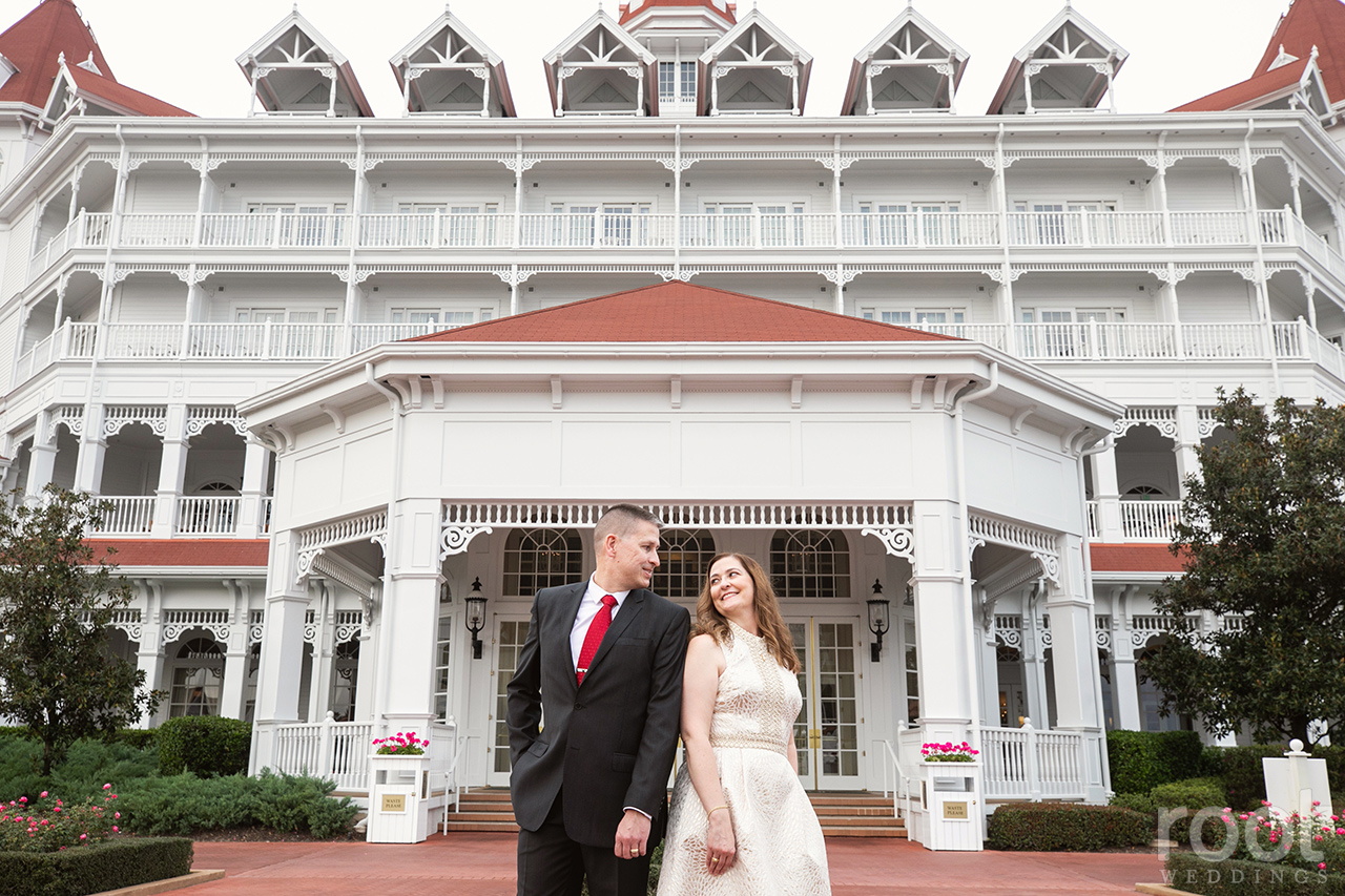 Anniversary photo shoot at Disney's Grand Floridian