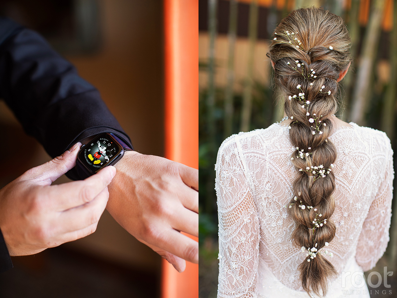 Rapunzel braid wedding hair