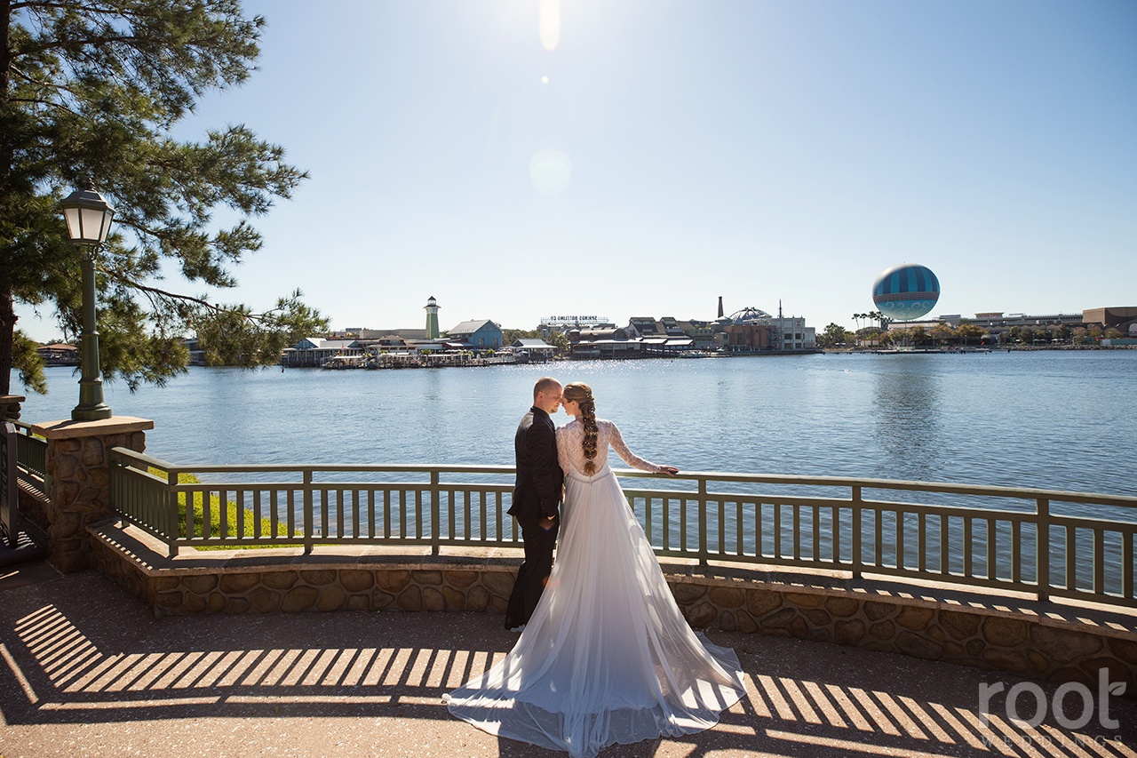 Congress Park wedding photos at Disney's Sarasota Springs