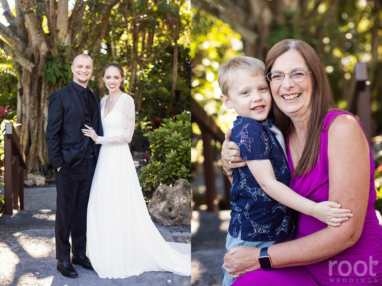 Family photos at a Disney wedding