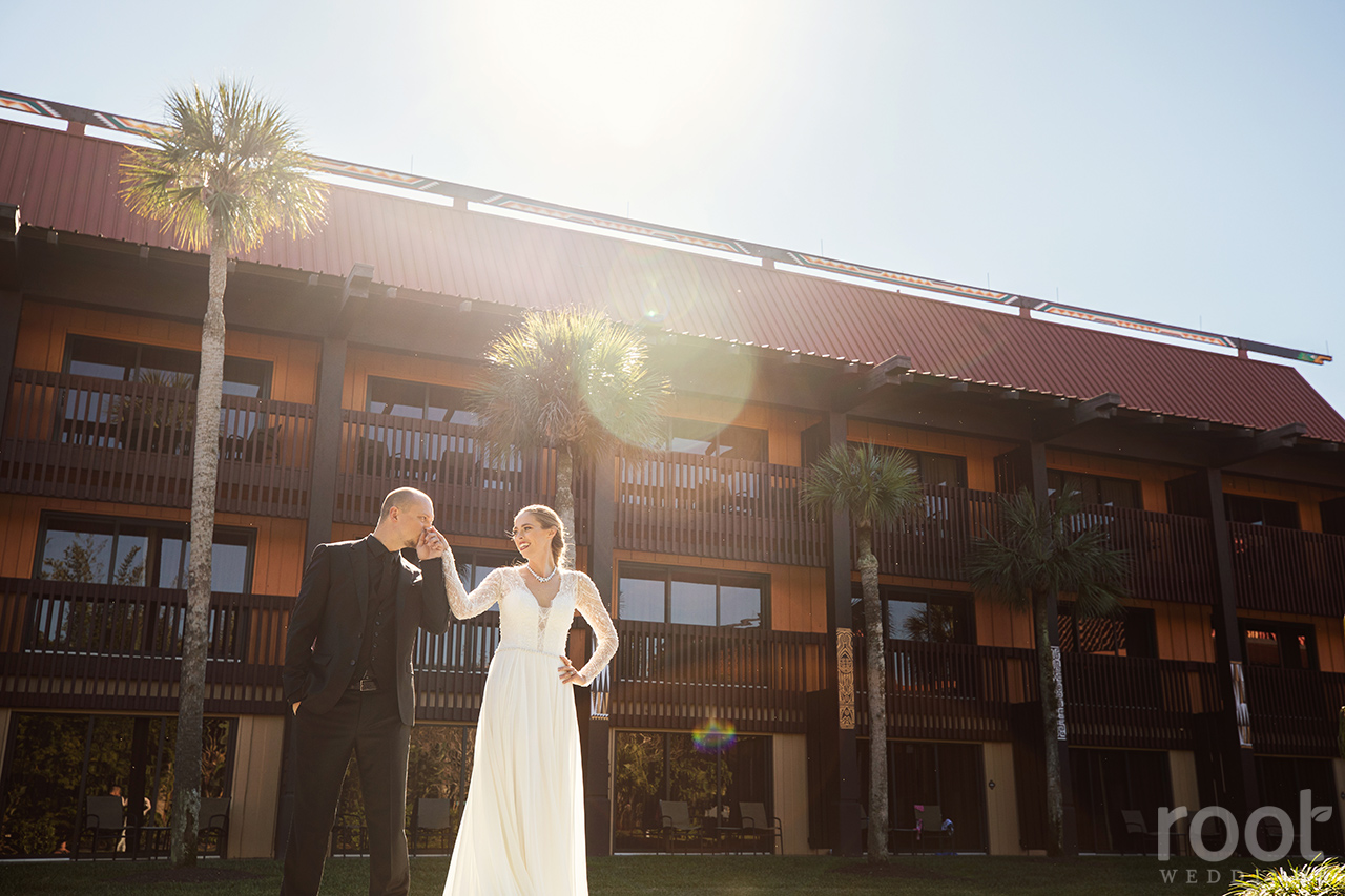 Wedding portraits at Disney's Polynesian Resort