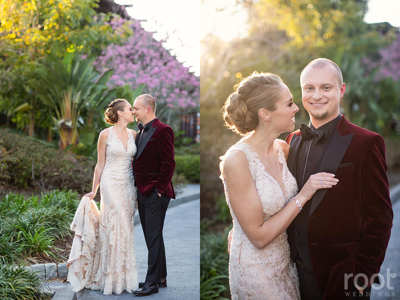 Wedding portraits at Disney's Polynesian Resort