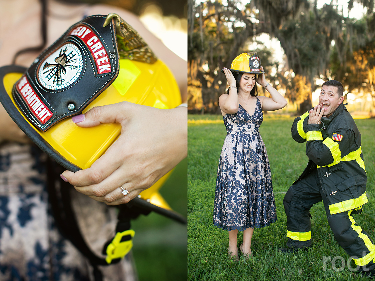 Fireman engagement session