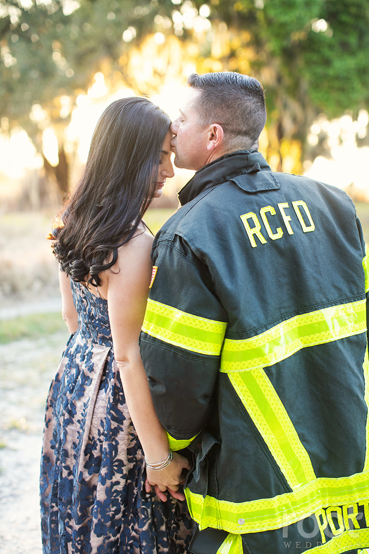 Fireman engagement session RCFD